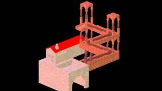 Escher's Waterfall design in 3D