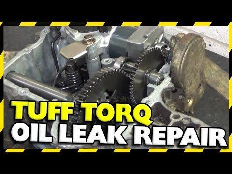 Tuff Torq Gearbox Oil Leak Repair | K61 Hydrostatic John Deere - YouTube