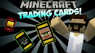 Minecraft Pocket Edition | TRADING CARDS!! - Nether Cards, Wither Cards and MORE!! Add-on Review