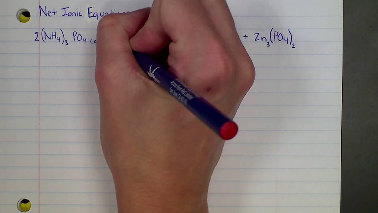 Writing Net Ionic Equations YouTube – Writing Net Ionic Equations Worksheet