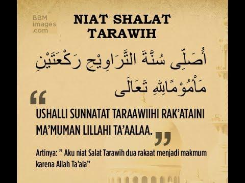 Niat Sholat Tarawih - YouTube