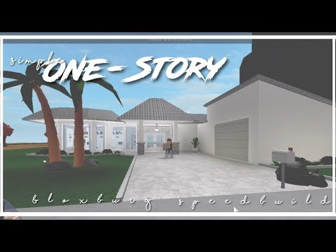 Roblox | Bloxburg | Simple One Story House - YouTube