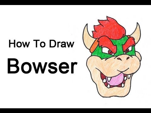 How To Draw Bowser Easy Drawing Tutorials
