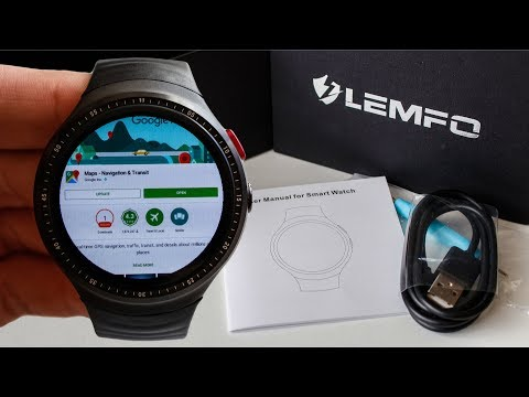 LEMFO LES1 smartwatch | Android 5.1 | Quad-core 1.3GHz + 1GB RAM | 16GB | Maps | Youtube 🔍2