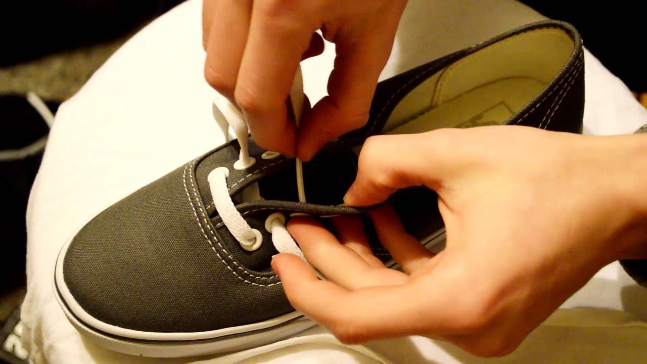 how to lace up vans 4 holes