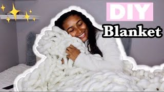 I FOLLOWED A LAURDIY DIY! | CHUNKY BLANKET