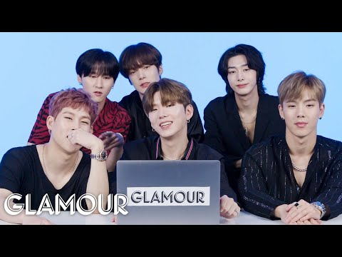 Monsta X Watches Fan Covers On YouTube - Part 1 | Glamour