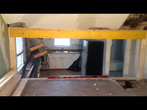 how-to-install-load-bearing-beam--laminated-veneer-lumber-lvl-(part-5)