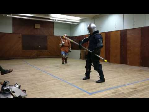Two Swords vs  Polearm Practice - The Shire of Rusted
