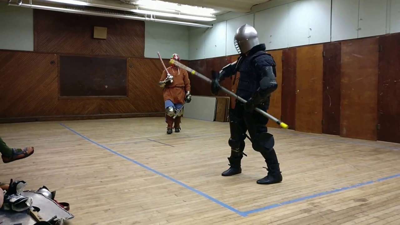 Two Swords vs  Polearm Practice - The Shire of Rusted Woodlands (SCA)