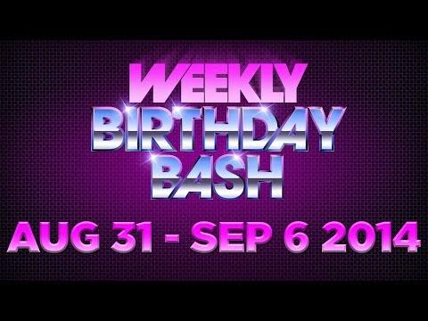 Celebrity Actor Birthdays - August 31 - September 6, 2014 HD