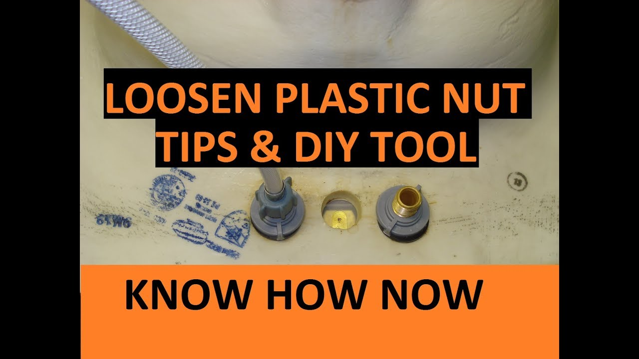 Remove Plastic Faucet Nut Tips Amp Diy Tool Youtube
