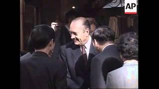 FRANCE: LYON: CHINESE PRESIDENT JIANG ZEMIN VISIT