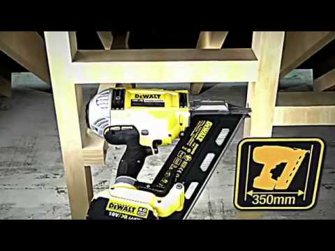 dewalt nail gun 18v 40ah cordless 1st fix li ion xr 90mm battery framing nailer dcn690 no gas 1
