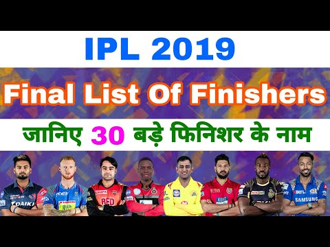 IPL 2019 - Final List Of All 30 Big Finishers Of All 8 Teams After IPL Auction