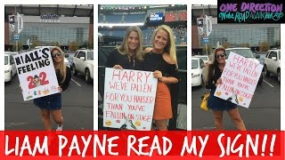 LIAM PAYNE READ MY SIGN! | OTRA BOSTON | ONE DIRECTION