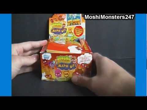 Opening a Moshi Monsters Mash Up Series 2 Booster Box of 36 Packs Part 1 of 3