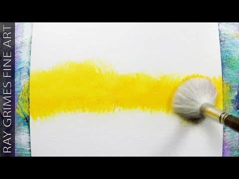 Easy Landscape Painting / 179 / Relaxing / Abstract Painting / Colorful / Demonstration / ASMR