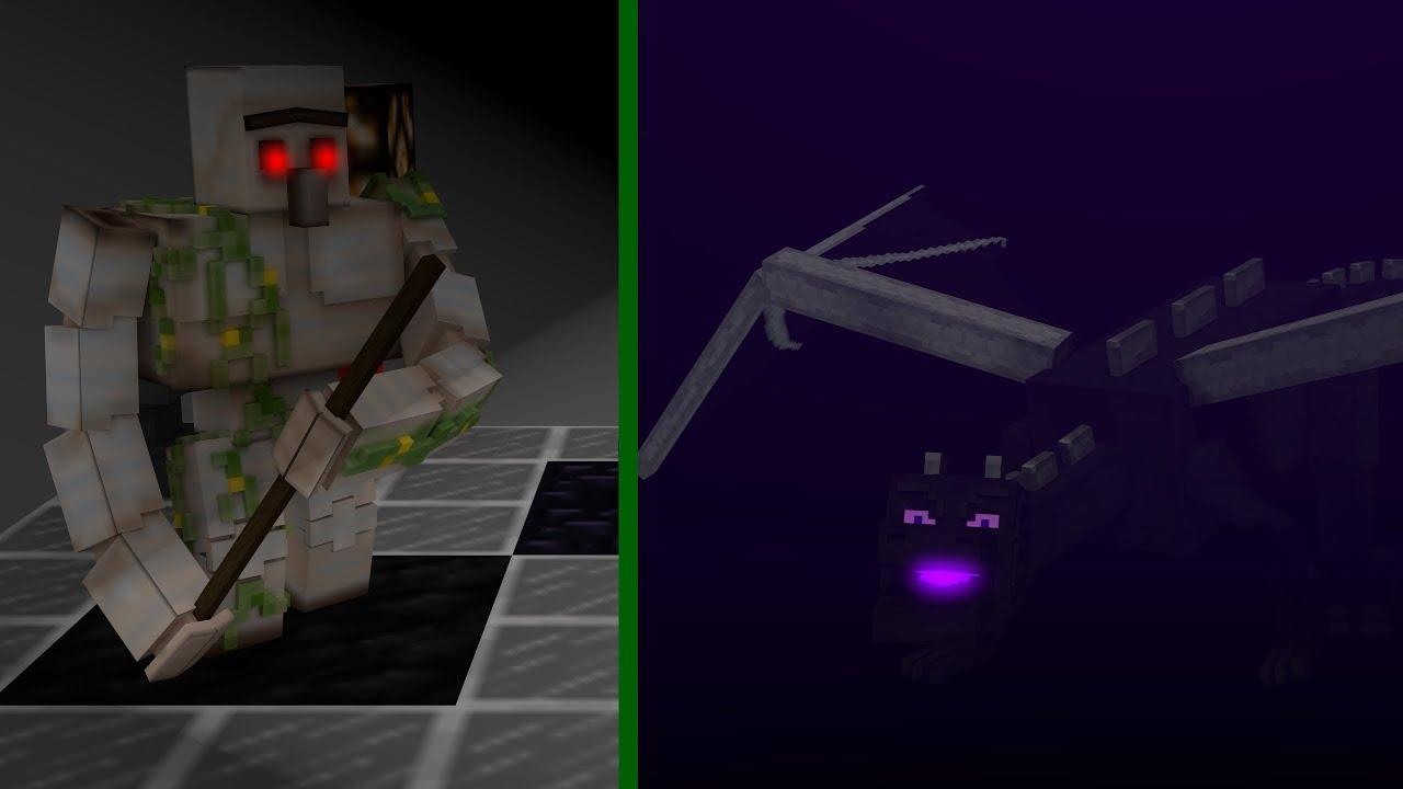 Minecraft Iron Golem Ender Dragon DEMO REEL Animation Blender269