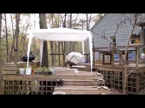 10x10 Party Tent Gazebo Canopy With Sidewalls Review Youtube