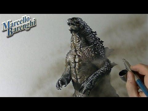 Drawing Godzilla ゴジラ Gojira - Fan Art