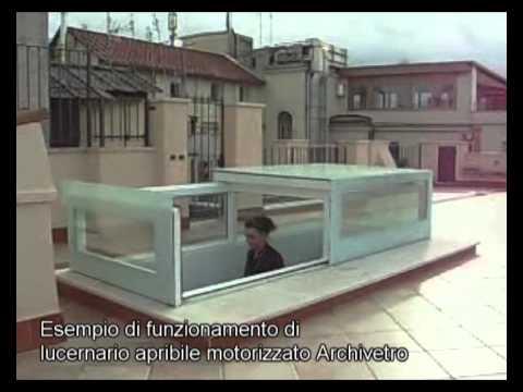 Funzionamento di lucernario scorrevole motorizzato youtube for Lucernario motorizzato prezzo