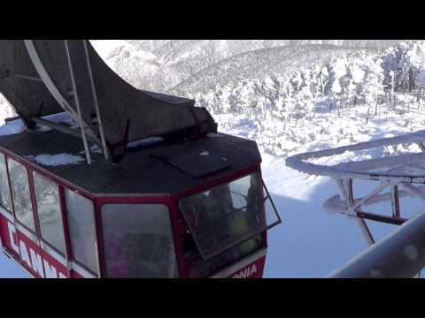 Cannon Mountain Aerial Tram Franconia Notch New Hampshire Skiing & Views of Mount Lafayette
