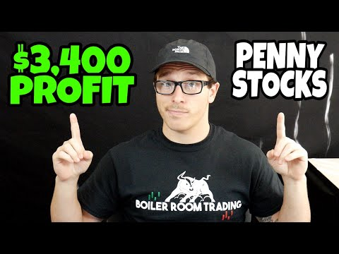$3,400 Day Trading Penny Stocks | Penny Stocks Are On Fire