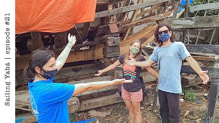 Our shipsaw requires SKILLS and MUSCLE! | building our first frame — Sailing Yabá #21