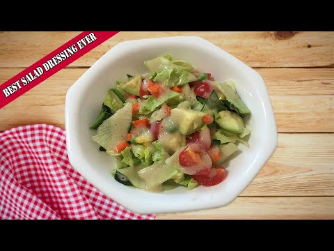 Quick And Easy Vegetable Salad Recipe With The Best And Quickest Salad Dressing Recipe