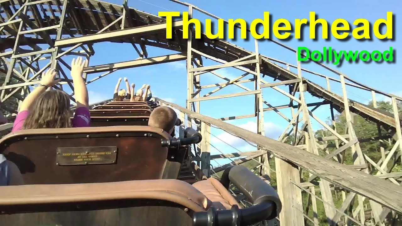 Thunderhead Wooden Roller Coaster On Ride Hd Pov Dollywood Pigeon Forge Tennessee