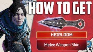 Apex Legends - How To Get Secret Heirloom Items & New Melee Weapons / Hidden Red Loot