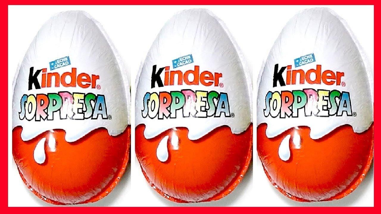 3 Huevos Sorpresa En Espa 241 Ol De Chocolate Kinder Sorpresa