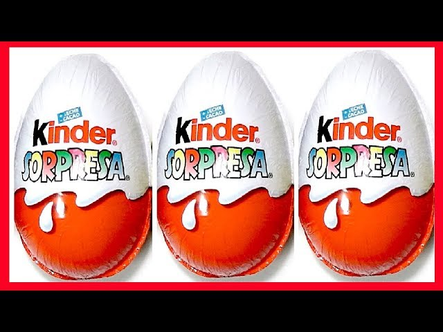 3 HUEVOS DE CHOCOLATE SORPRESA MAGIC KINDER