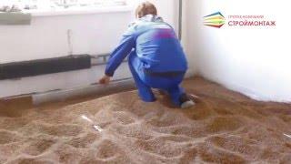Сухая стяжка пола - Ремонт квартиры в новостройке под ключ(Устройство сухой стяжки пола в комнате от ГК