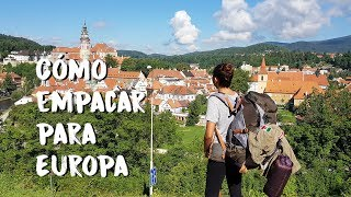 QUÉ EMPACAR PARA EUROPA | GUÍA PASO A PASO BACKPACKING