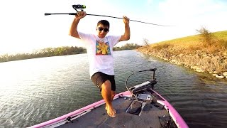 Loser EATS a WORM!! - Bass Fishing Challenge
