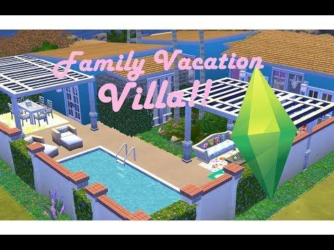 Sims 4 Speed Build: Family Vacation Villa!