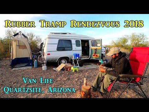Van Life in Quartzsite, Arizona - Rubber Tramp Rendezvous 2018