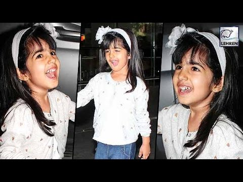 Akshay Kumar's Daughter Nitara's Makes FUNNY FACES To Media | LehrenTV