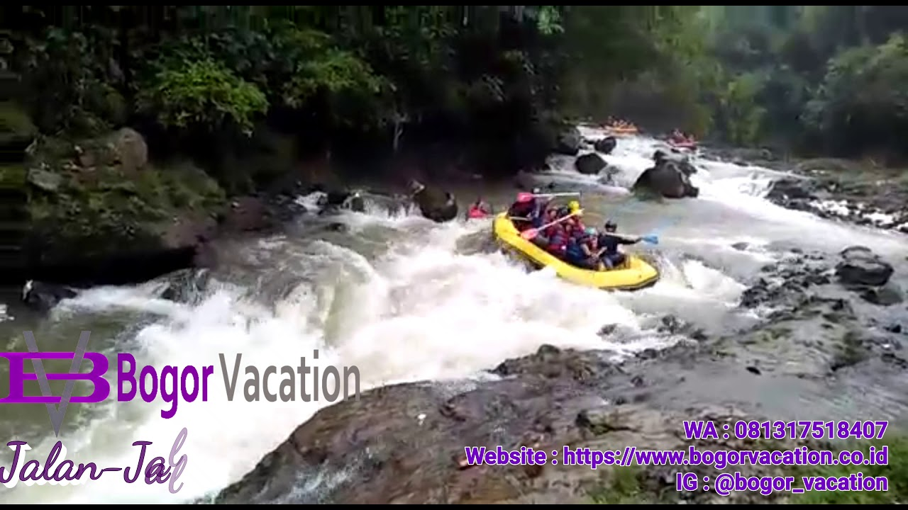 Bogor Vacation - Rafting / Arung Jeram Cisadane - YouTube