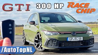 300HP VW Golf GTI MK8 RaceChip REVIEW on AUTOBAHN [NO SPEED LIMIT] by AutoTopNL