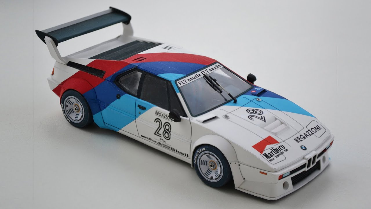Papercraft BMW M1 paper model. Procar series 1979