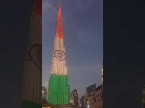Dubai's Burj khalifa lights up in Tiranga Indian Flag Republic Day 2017. Proud :)