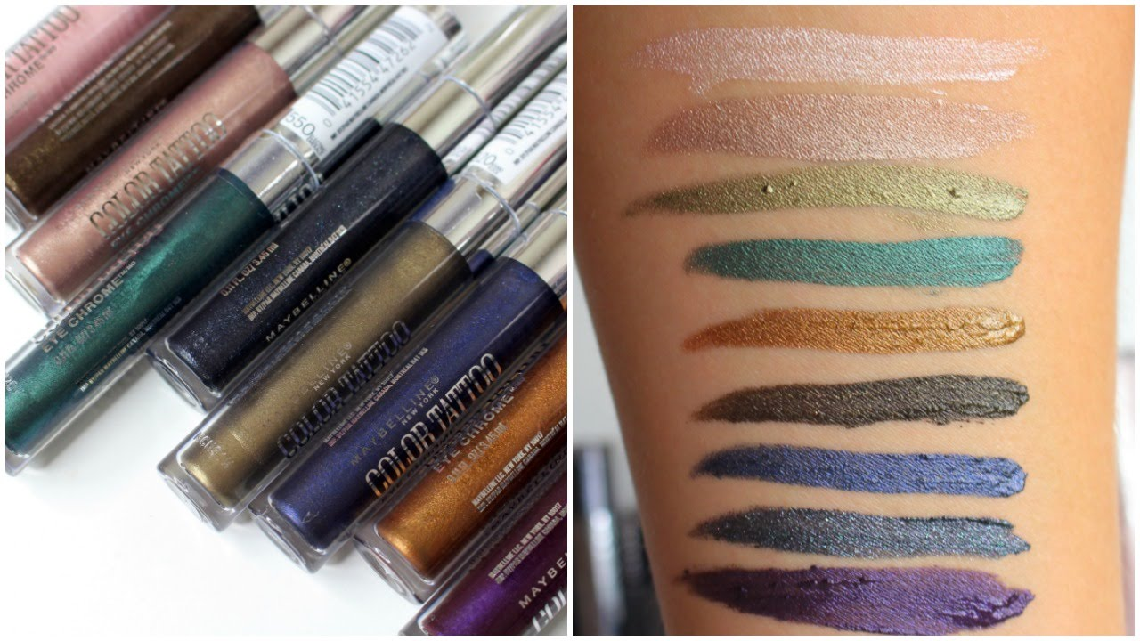 maybelline color tattoo eye chrome review bailey b