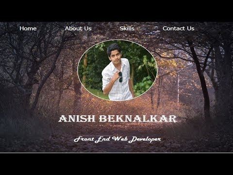 Create Portfolio Using Html & Css || Part 02 || Adding Simple About Section || Anish Web