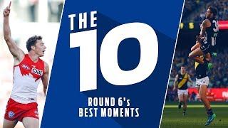 The 10: Best moments | Round 6, 2018 | AFL