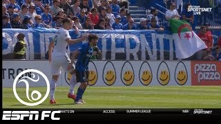 Zlatan Ibrahimovic gets red card for slapping Montreal's Michael Petrasso in the head | ESPN FC