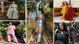 Pakistani Famous Actress Iqra Aziz Dressing Style & Dress Designs!!Iqra Aziz Beautiful Pix!Dear
