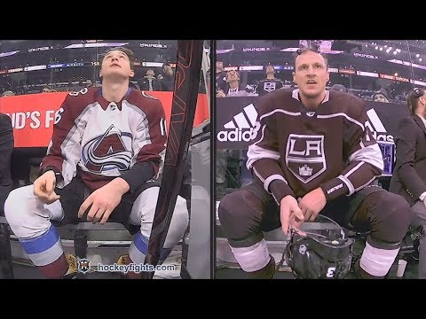 Nikita Zadorov vs Dion Phaneuf Apr 2, 2018
